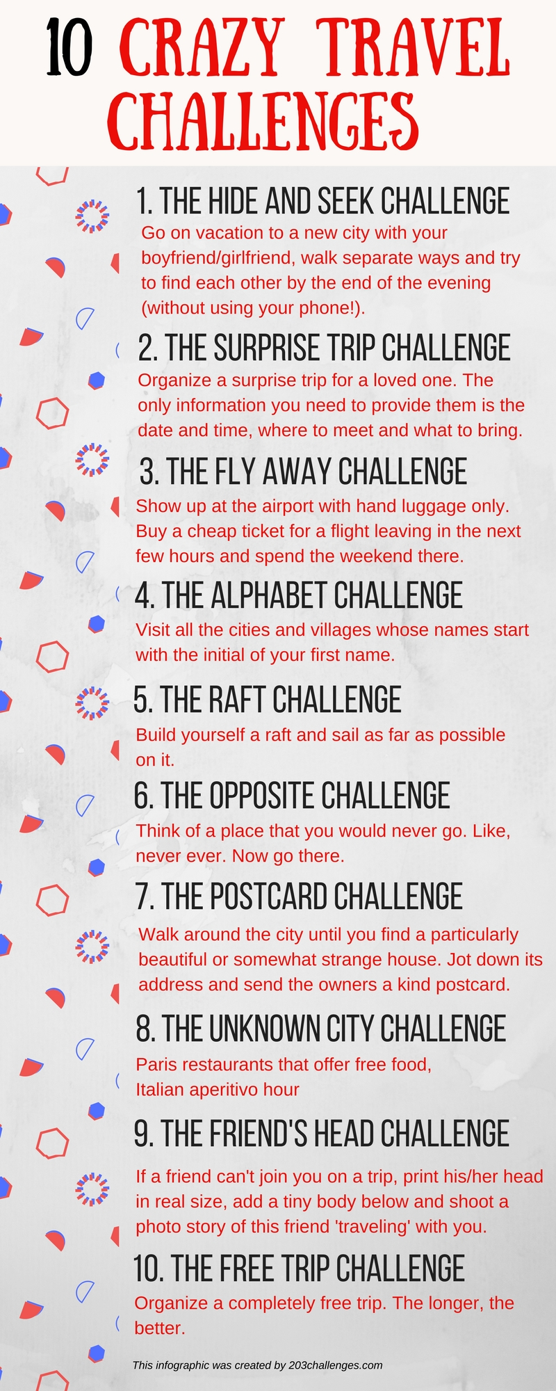 10 crazy travel challenges with friends or partner - a list