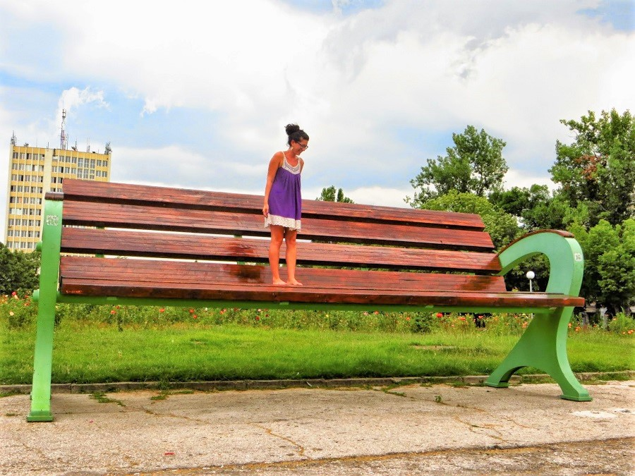 Dimitrovgrad and the biggest bench in Bulgaria