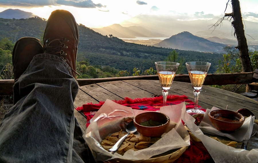 Date idea: Pop a bottle of champagne on a mountain peak